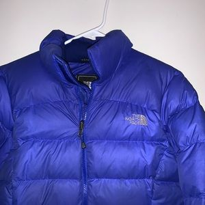 North Face Puffer Jacket Purple